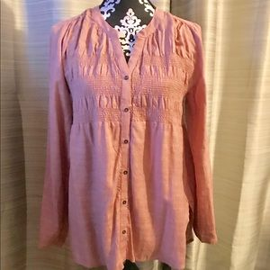 Pretty Pink Peasant Top